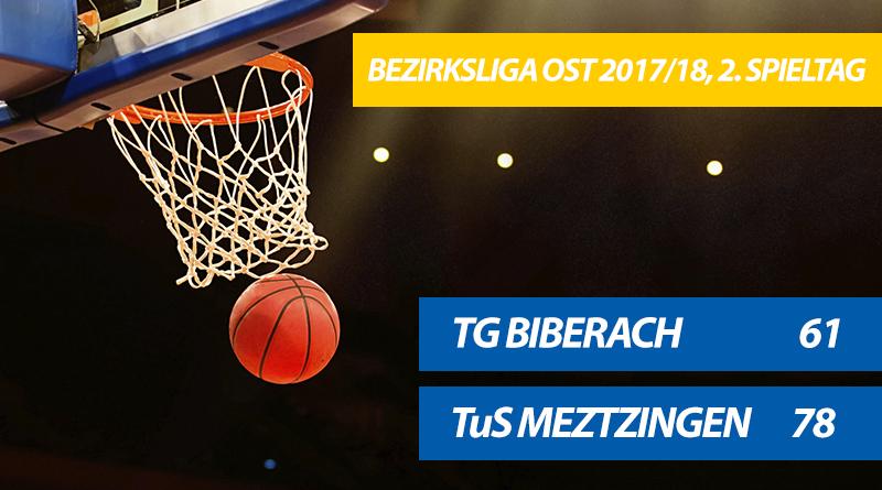 TG-Herren verlieren 61:78 gegen die TuS Metzingen