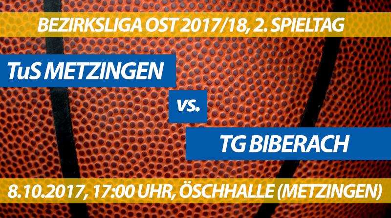 Spielvorschau: TuS Metzingen - TG Biberach, 2. Spieltag, Bezirksliga Ost 2017/18