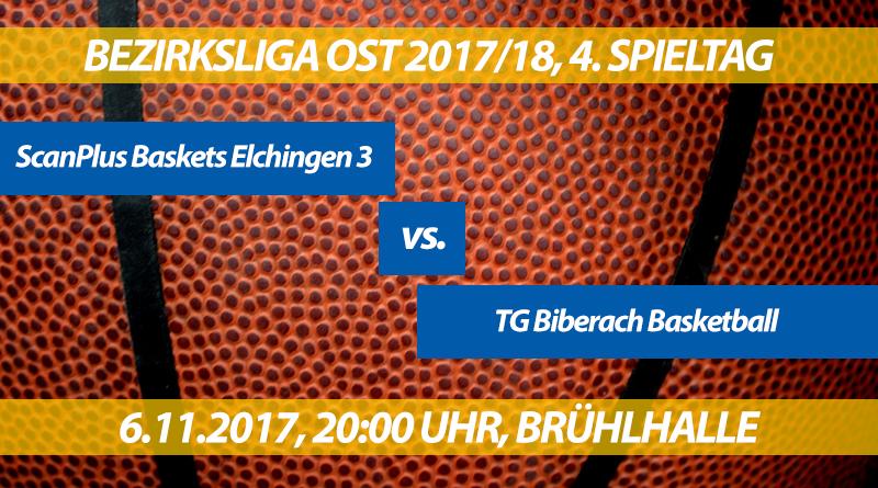 Spielvorschau: ScanPlus Baskets Elchingen 3 - TG Biberach, 4. Spieltag, Bezirksliga Ost 2017/18