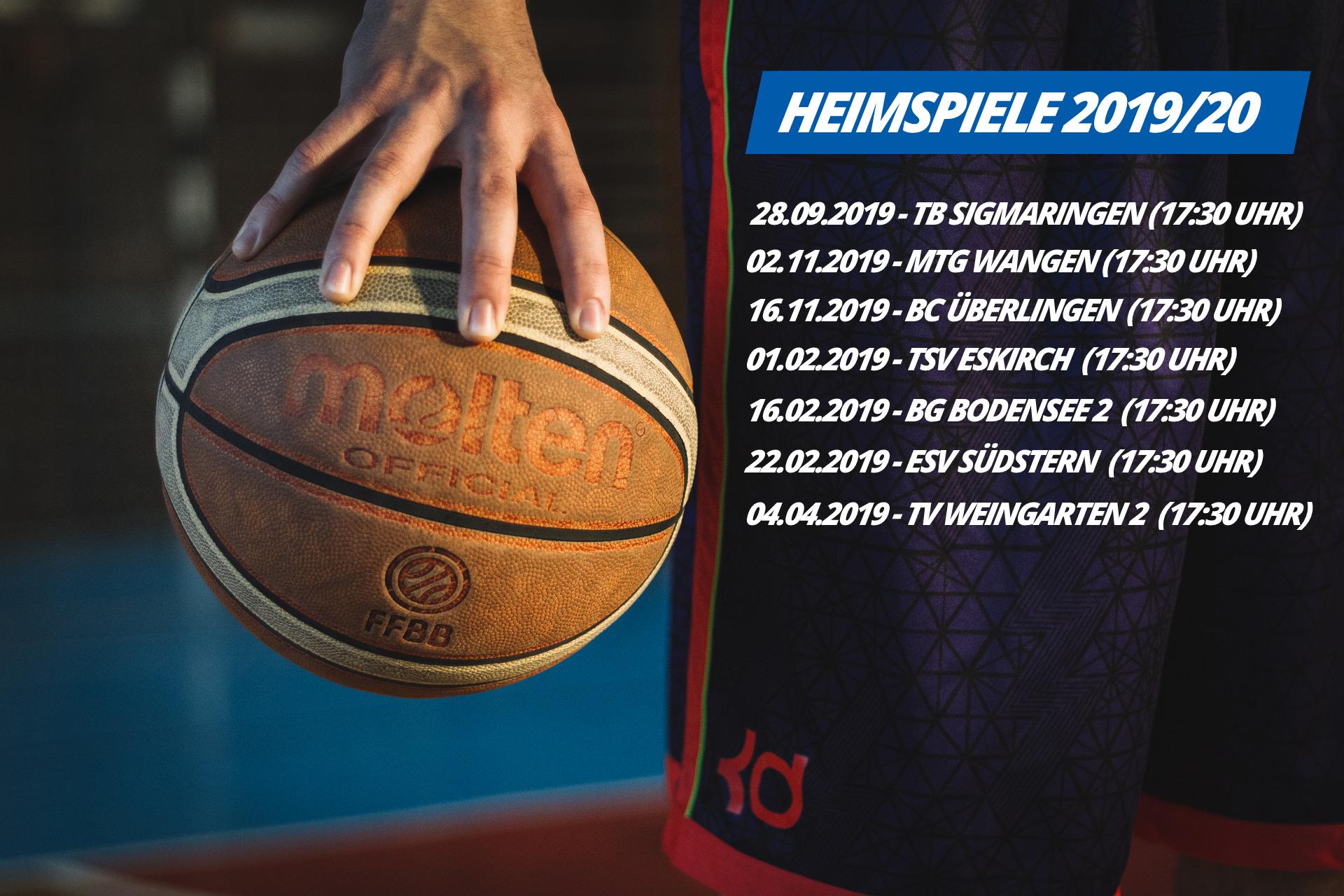 Spielplan Kreisliga A Süd (Alb/Bodensee), Saison 2019/20