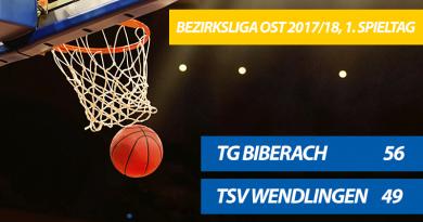 TG-Herren starten mit einem 56:49-Sieg gegen Wendlingen in die neue Saison