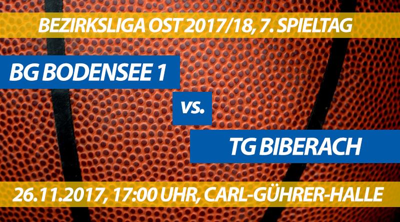 Spielvorschau: BG Bodensee 1 - TG Biberach, 7. Spieltag, Bezirksliga Ost 2017/18