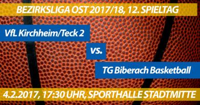 Spielvorschau: VfL Kirchheim/Teck 2 – TG Biberach, 12. Spieltag, Bezirksliga Ost 2017/18