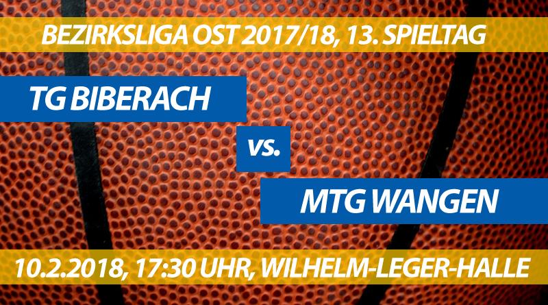 TG Biberach - MTG Wangen, 13. Spieltag, Bezirksliga Ost 2017/18