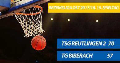 TG-Herren verlieren 70:57 in Reutlingen